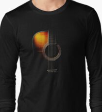 Colour Acoustic Guitar Hi-Lite Long Sleeve T-Shirt