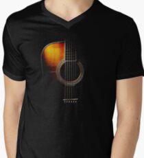 Colour Acoustic Guitar Hi-Lite Men's V-Neck T-Shirt