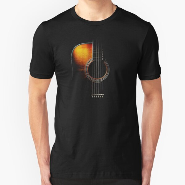 Colour Acoustic Guitar Hi-Lite Slim Fit T-Shirt