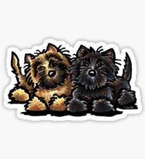 Two Cairn Terriers Sticker