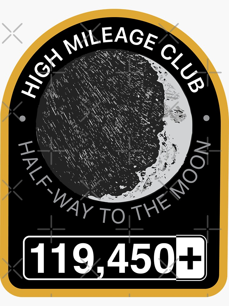 High Mileage Club • Lunar Equivalency Collection • Half-Way To The Moon by brainthought