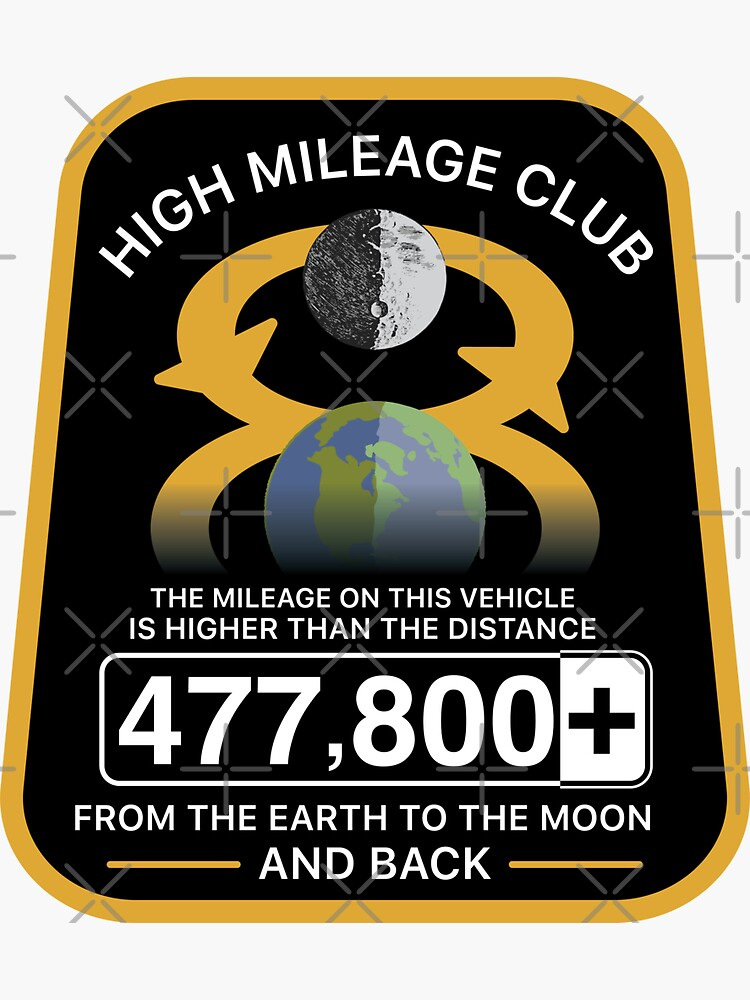 High Mileage Club • Lunar Equivalency Collection • To The Moon And Back! by brainthought
