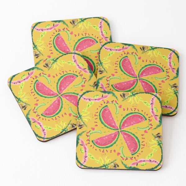 Watermelon  honey buzz Coasters (Set of 4)