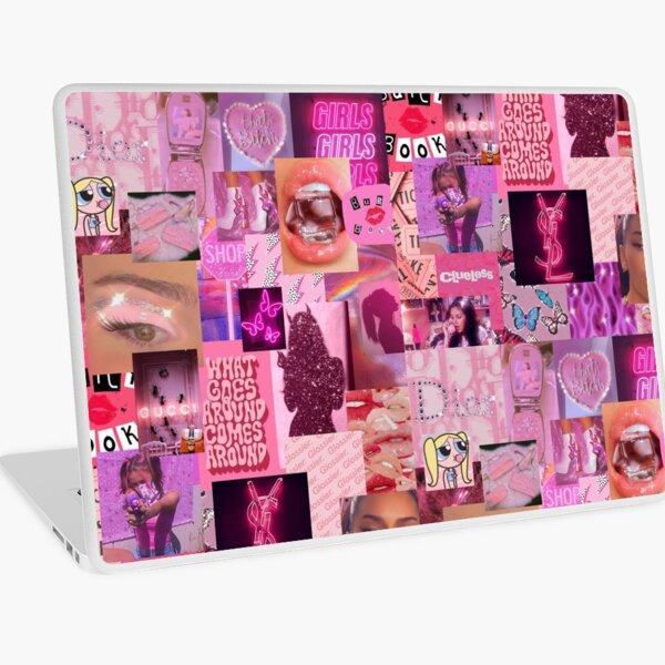 pink collage Laptop Skin