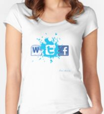 WTF SOCIAL NETWORKING  Women's Fitted Scoop T-Shirt