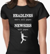 Newsies Sell Papes Women's Fitted T-Shirt