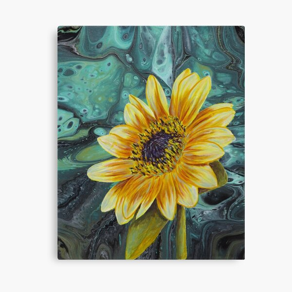 Yellow Flower painted by Minisa Robinson Canvas Print