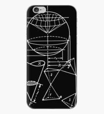 Vintage Math Diagrams - white on black iPhone Case