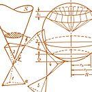 Vintage Math Diagrams - sepia by funmaths