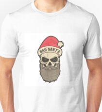 bad santa. Santa skull Unisex T-Shirt