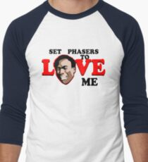 Set Phasers to Love Men's Baseball ¾ T-Shirt
