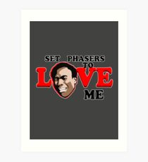 Set Phasers to Love Art Print