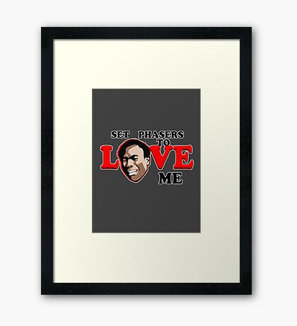 Set Phasers to Love Framed Print