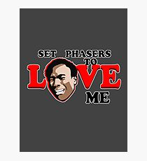 Set Phasers to Love Photographic Print