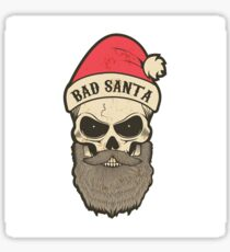 bad santa. Santa skull Sticker
