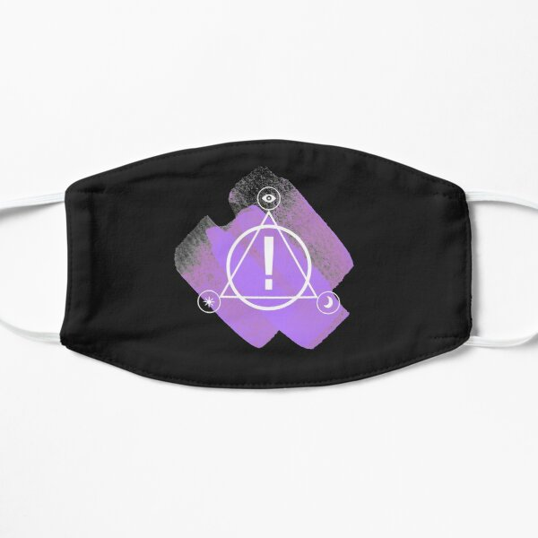 Panic! at the disco simple abstract logo design(purple) Mask