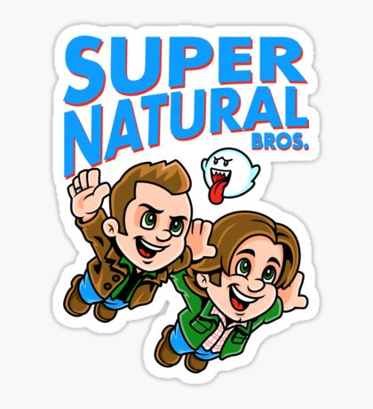 Super Natural Bros Sticker
