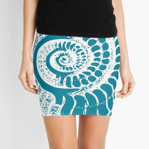 Spiral Shell with Math (blue) Mini Skirt