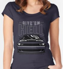 Give'em Hell Dodge Challenger Women's Fitted Scoop T-Shirt