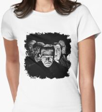 Classic Monsters Black & White POP! Women's Fitted T-Shirt