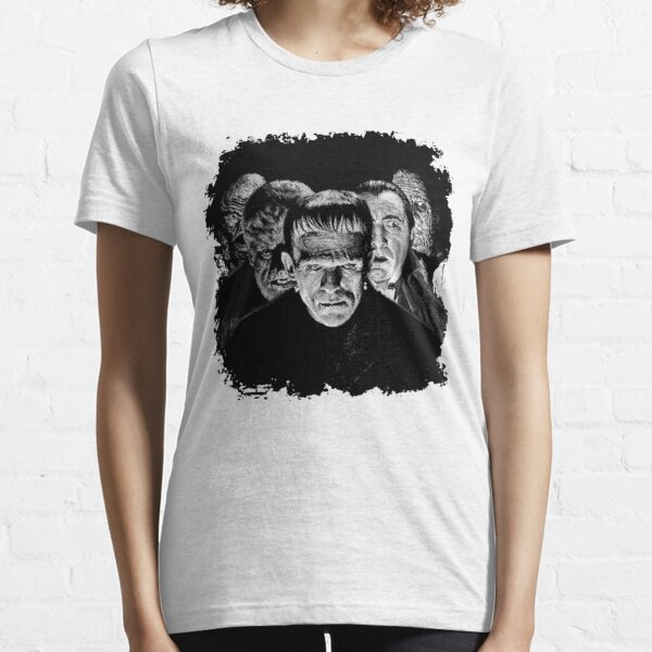Klassische Monster Schwarz & Weiß POP! Essential T-Shirt