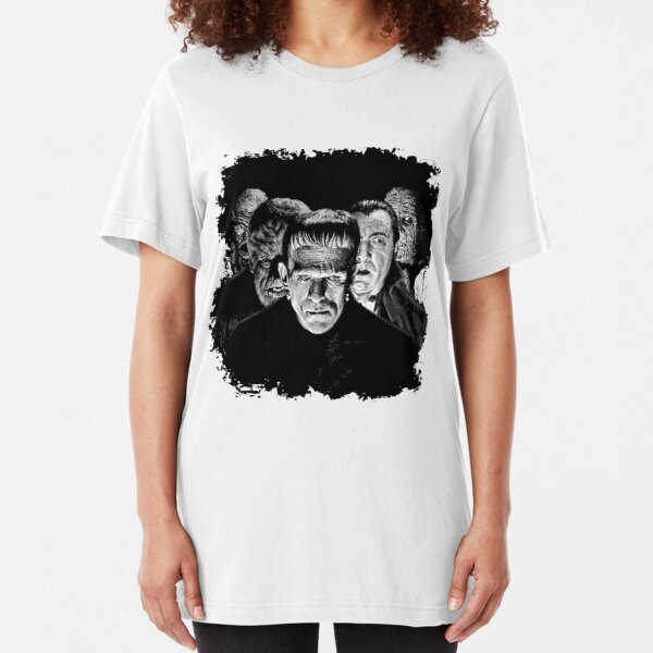 Classic Monsters Black & White POP! Slim Fit T-Shirt