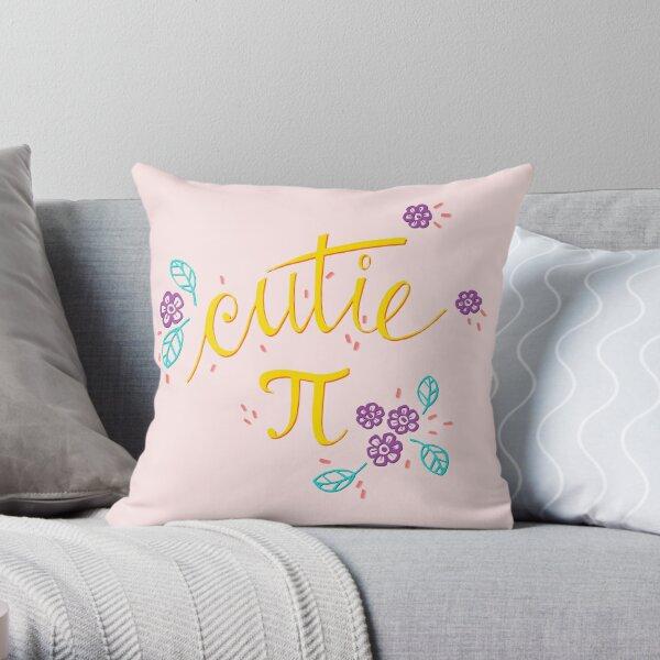 Cutie Pi (Pink) Throw Pillow