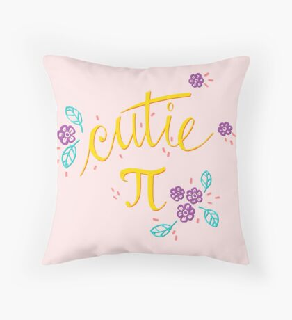 Cutie Pi (Pink) Throw Pillow