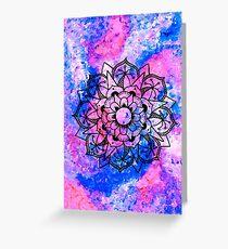 Acrylic Mandala Design Greeting Card