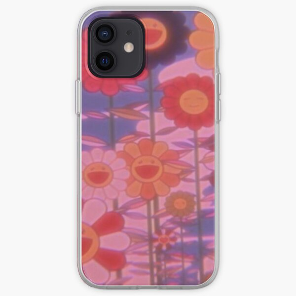 indie happy flowers trippy Coque souple iPhone