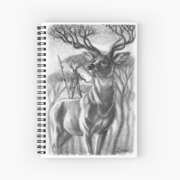 The Forest Stag Spiral Notebook