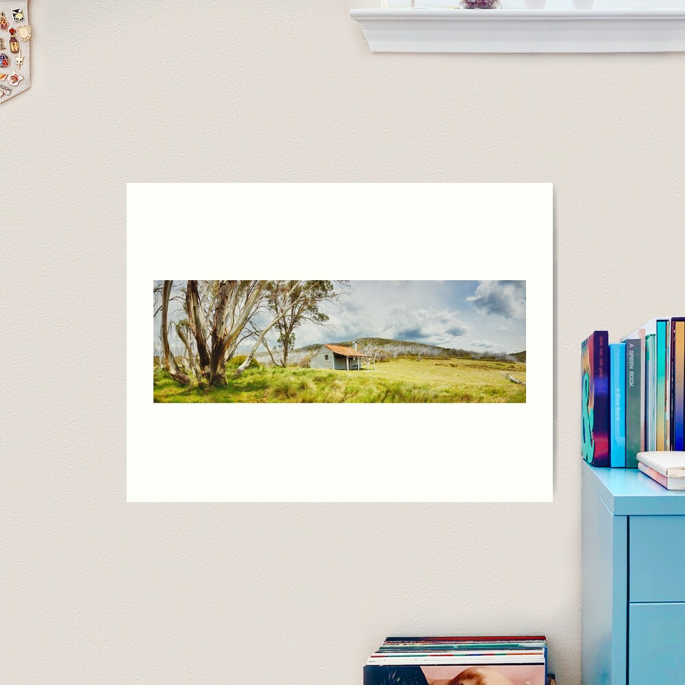 Bradleys & O'Briens Hut, Kosciuszko, New South Wales, Australia Art Print