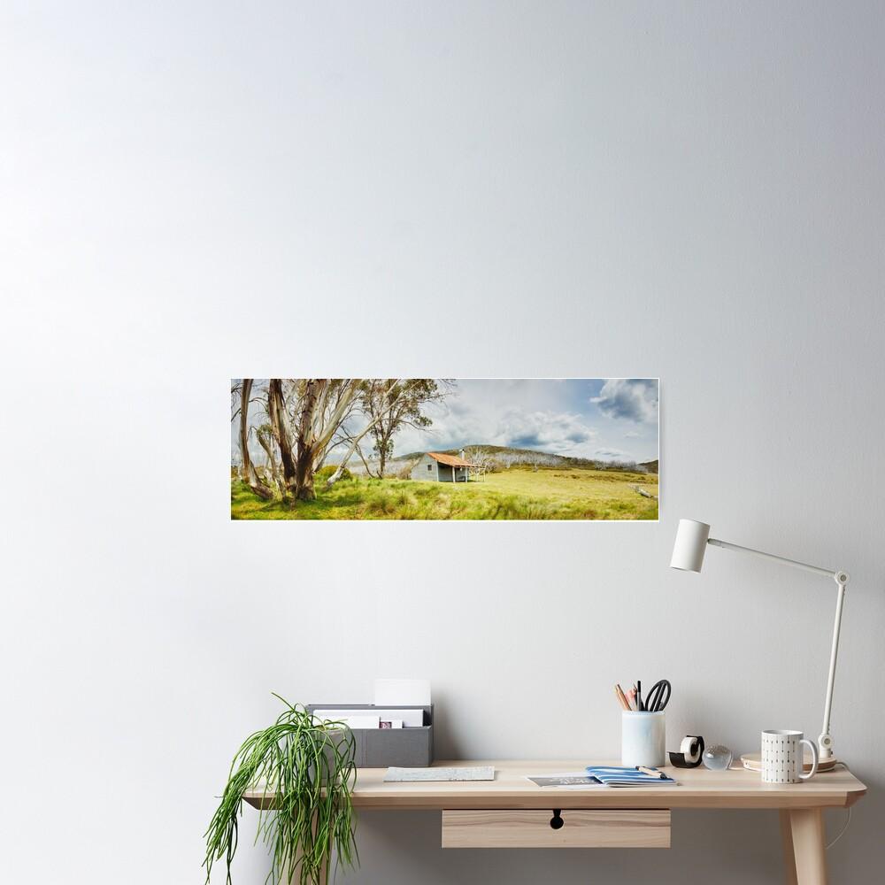 Bradleys & O'Briens Hut, Kosciuszko, New South Wales, Australia Poster