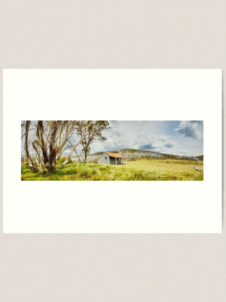 Alternate view of Bradleys & O'Briens Hut, Kosciuszko, New South Wales, Australia Art Print