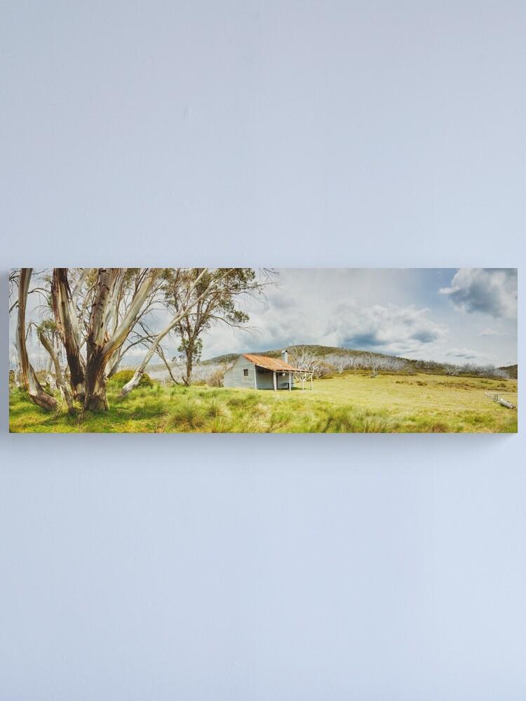 Alternate view of Bradleys & O'Briens Hut, Kosciuszko, New South Wales, Australia Canvas Print