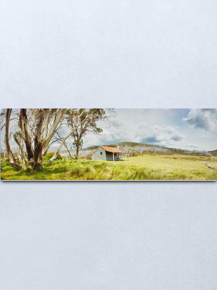 Alternate view of Bradleys & O'Briens Hut, Kosciuszko, New South Wales, Australia Metal Print