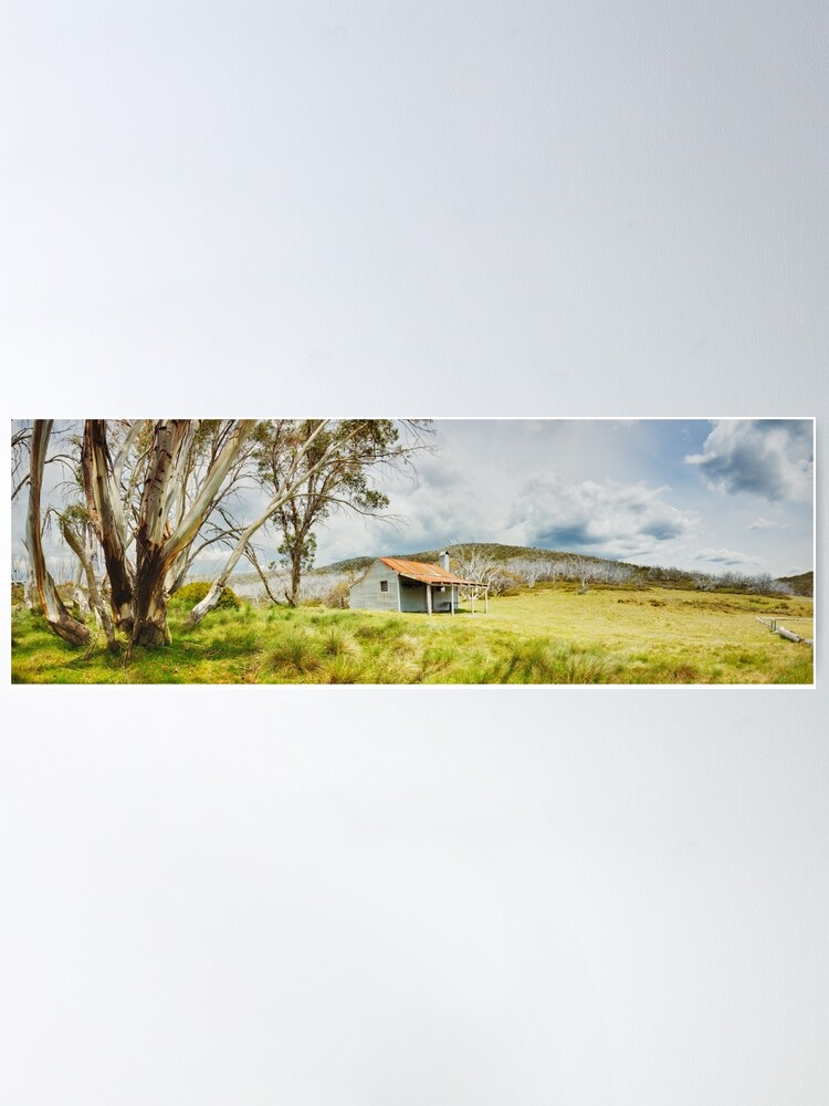 Alternate view of Bradleys & O'Briens Hut, Kosciuszko, New South Wales, Australia Poster