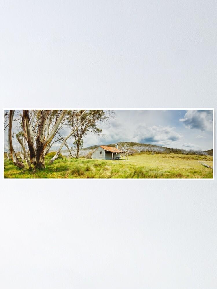 Alternate view of Bradleys & O'Briens Hut, Kosciuszko, New South Wales, Australia Poster