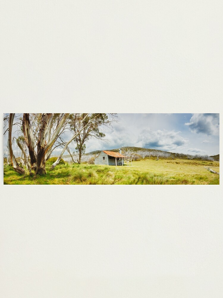 Alternate view of Bradleys & O'Briens Hut, Kosciuszko, New South Wales, Australia Photographic Print