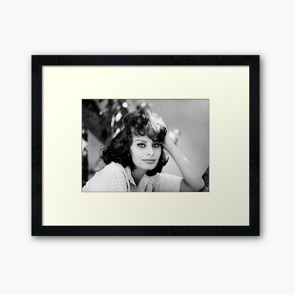 Sophia Loren young Framed Art Print