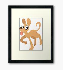 simplistic dog  Framed Print