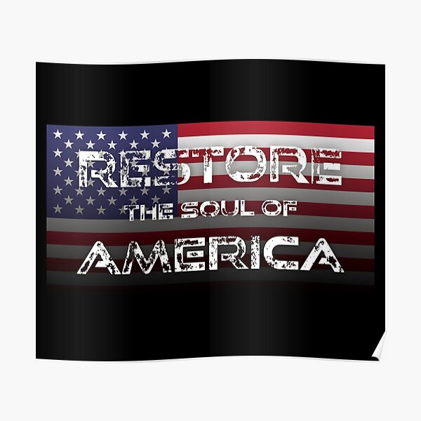 Biden Harris Election 2020 Restore the Soul of America Poster