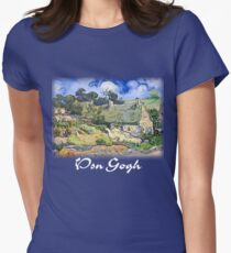 Vincent Van Gogh - Cottages with Thatched Roofs Womens Fitted T-Shirt