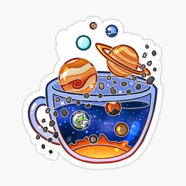 Solar System Tea Sticker