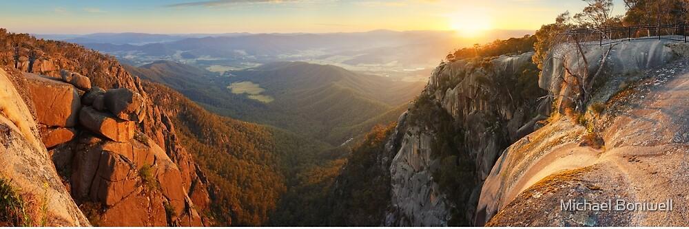 Mt Buffalo Gorge Dawn, Victoria, Australia by Michael Boniwell