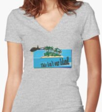 This Isn't Our Island! Women's Fitted V-Neck T-Shirt