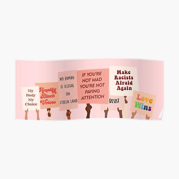 Protest Signs for Equality Poster