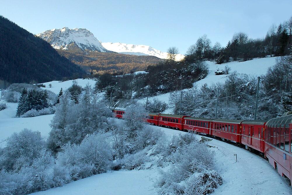Bernina Express by Arie Koene