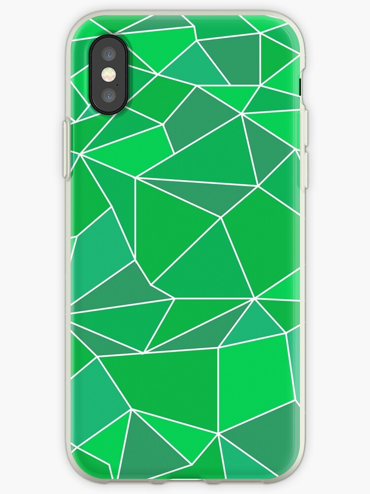 Triangular abstract green by hasaka