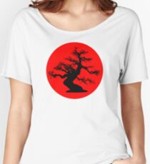 bonsai red sun  Women's Relaxed Fit T-Shirt
